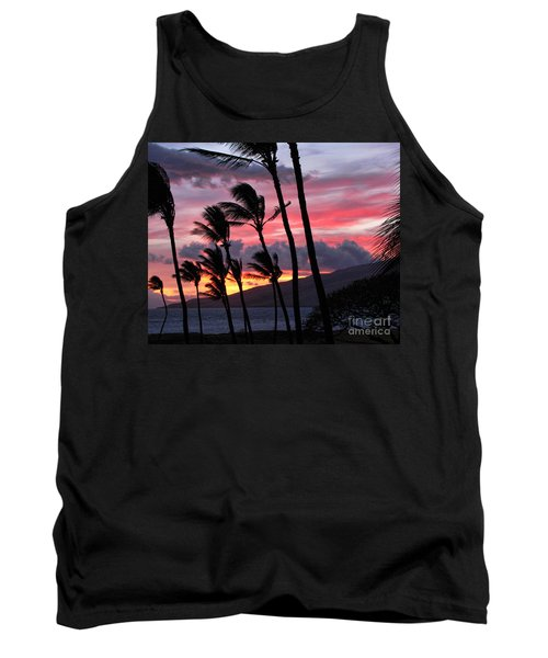 Tank Top featuring the photograph Maui Sunset by Peggy Hughes