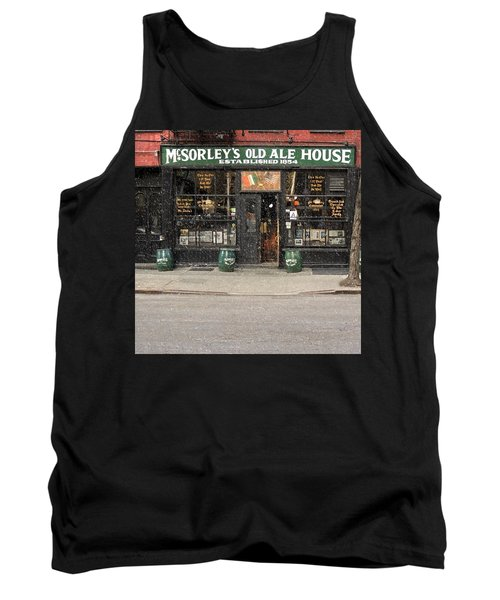 Mcsorley's Old Ale House During A Snow Storm Tank Top