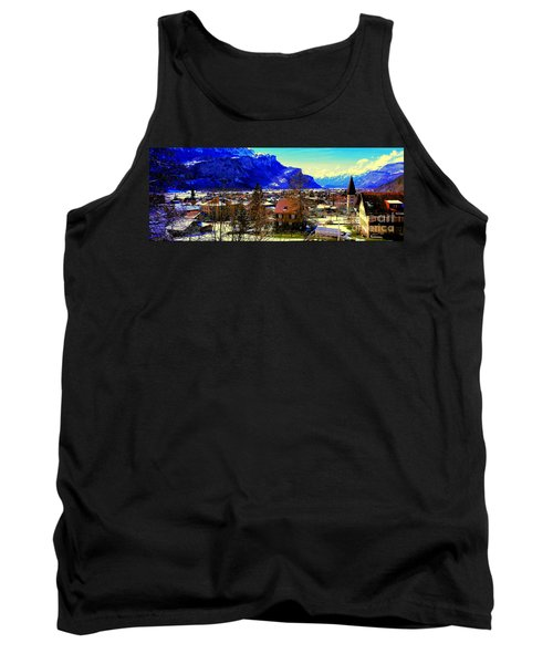 Meiringen Switzerland Alpine Village Tank Top