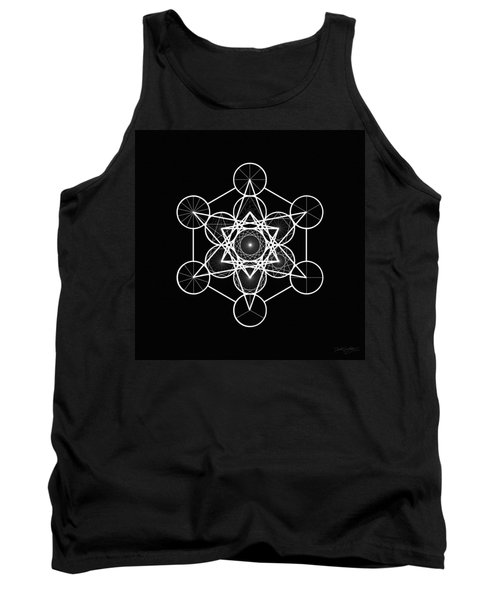 Metatron Wheel Cube Tank Top