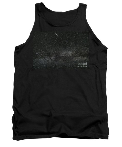 Meteor With The Milky Way Tank Top by Patrick Fennell