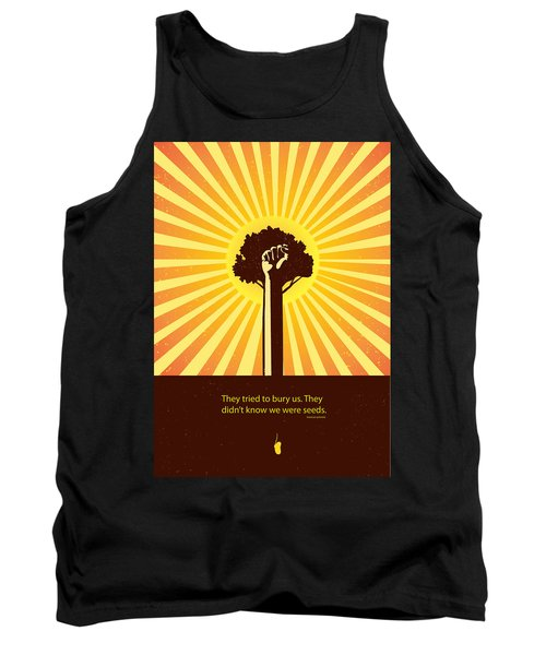 Mexican Proverb Minimalist Poster Tank Top by Sassan Filsoof