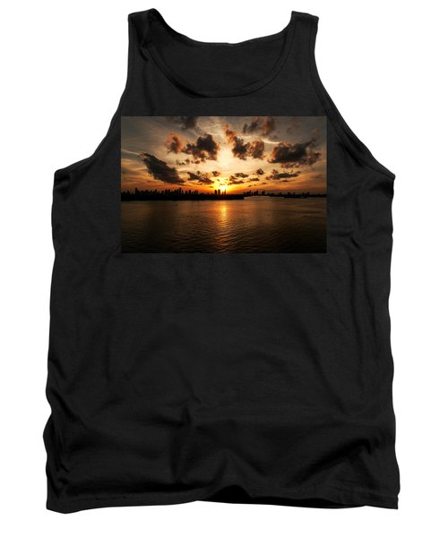 Miami Skyline Sunset Tank Top