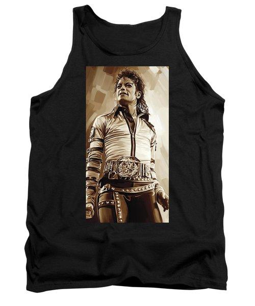 Michael Jackson Artwork 2 Tank Top by Sheraz A