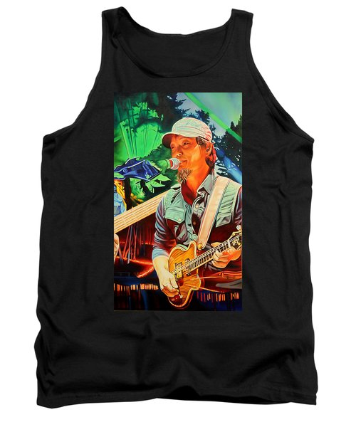 Tank Top featuring the painting Michael Kang At Horning's Hideout by Joshua Morton