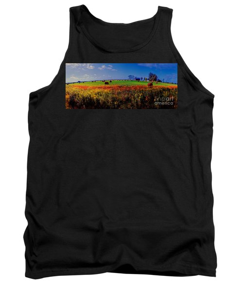 Michigan Uper  Farm Barn And Rolls Of Hay Brimly Michigan Tank Top