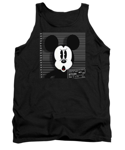 Mickey Mouse Disney Mug Shot Tank Top by Tony Rubino