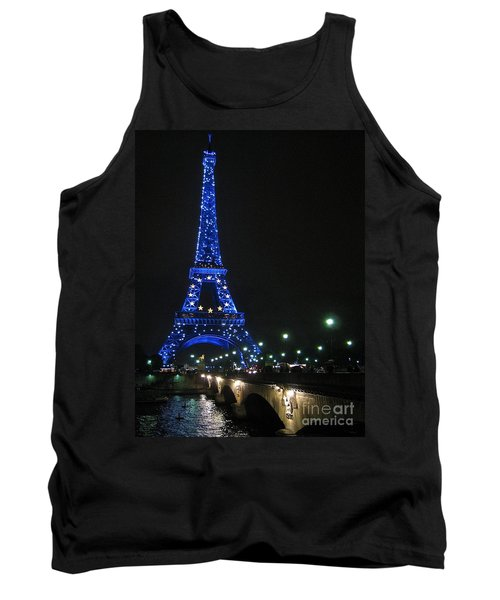 Tank Top featuring the photograph Midnight Blue by Suzanne Oesterling