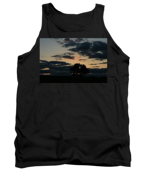 Farm Pasture Midnight Sun  Tank Top by Neal Eslinger