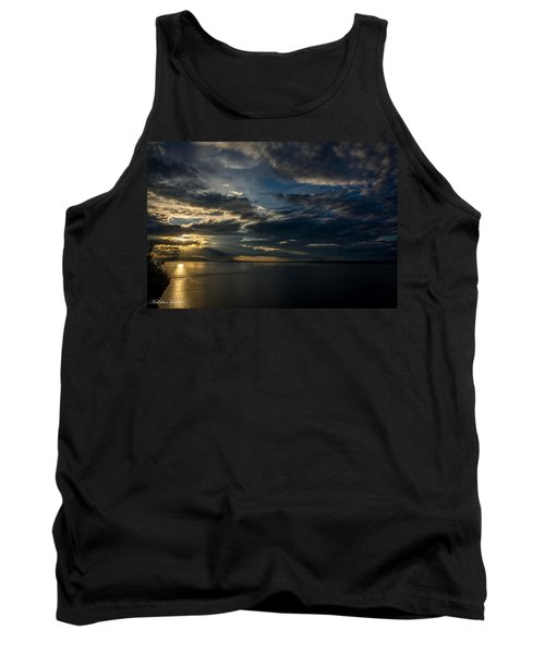 Midnight Sun Over Cook Inlet Tank Top by Andrew Matwijec