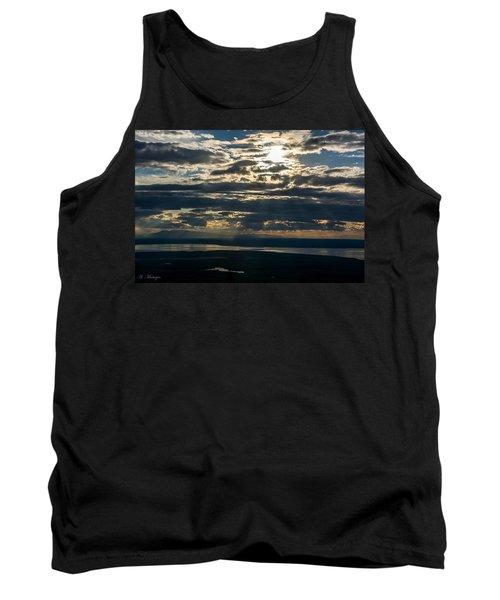 Midnight Sun Over Mount Susitna Tank Top