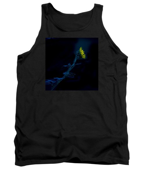 Tank Top featuring the photograph Midnight Sunflower by Darryl Dalton
