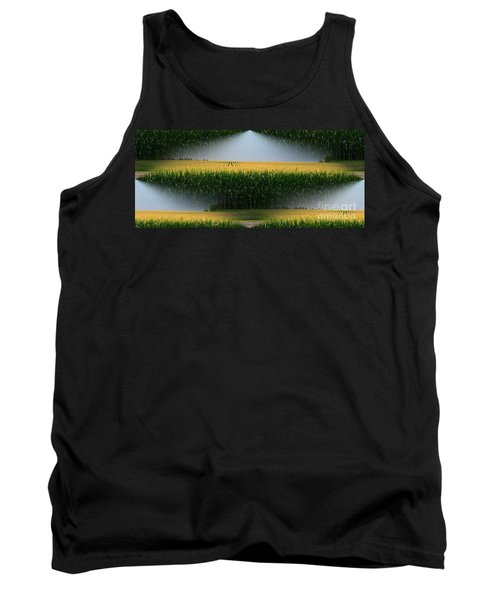 Midwest Gold Tank Top by Luther Fine Art
