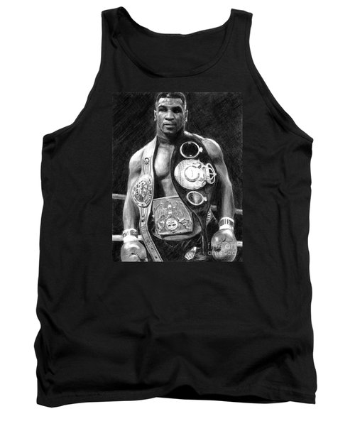 Mike Tyson Pencil Drawing Tank Top