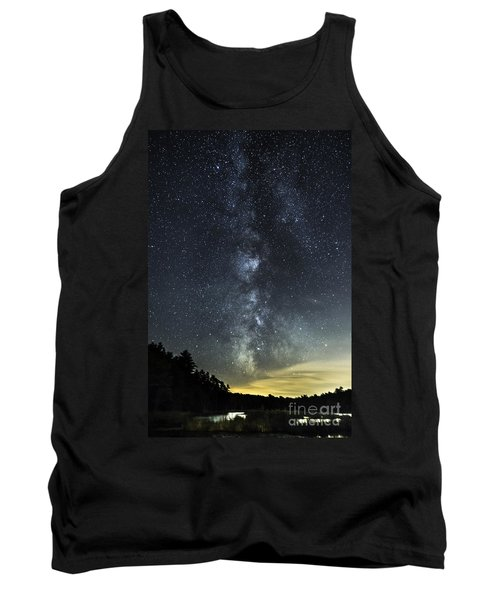 Milky Way Over Beaver Pond In Phippsburg Maine 2 Tank Top by Patrick Fennell