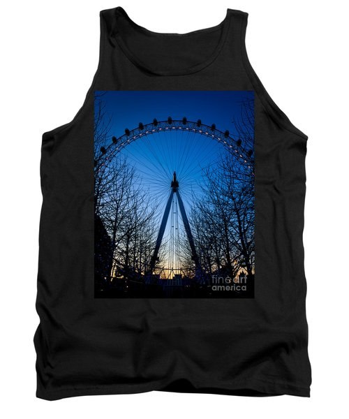 Tank Top featuring the photograph Millennium Eye London At Twilight by Peta Thames