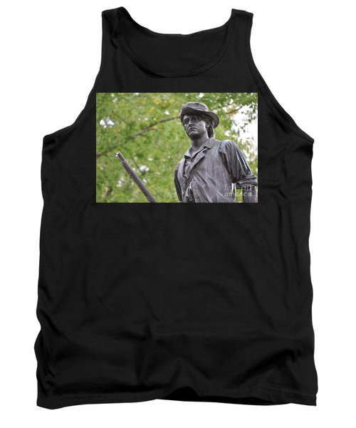Minute Man Statue In Spring Tank Top