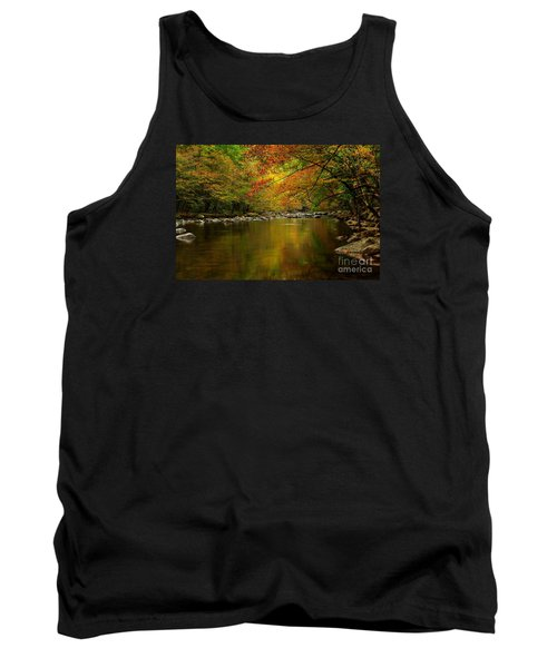 Tank Top featuring the photograph Mirror Fall Stream In The Mountains by Debbie Green