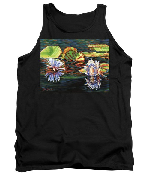 Mirrored Lilies Tank Top by Jane Girardot