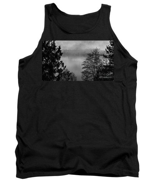 Misty Morning Sunrise Black And White Art Prints Tank Top
