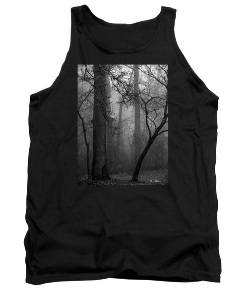 Tank Top featuring the photograph Misty Woods by Rebecca Davis