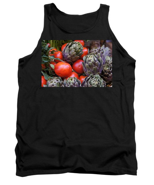 Articholes And Tomatoes Tank Top by Debi Demetrion