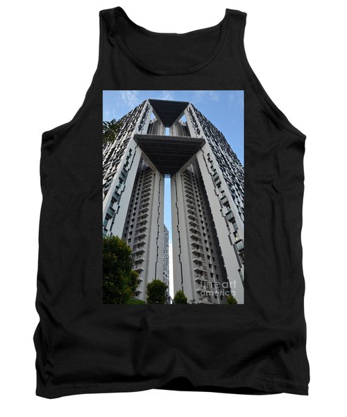 Tank Top featuring the photograph Modern Skyscraper Apartment Building Singapore by Imran Ahmed
