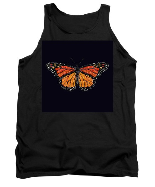 Monarch Butterfly Bedazzled Tank Top