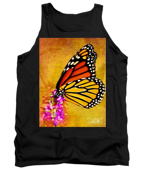 Monarch Butterfly Color Splash Sunset Tank Top