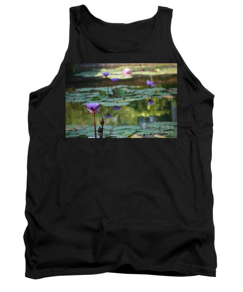 Monet's Waterlily Pond Number Two Tank Top by Heather Kirk