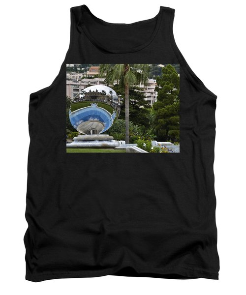 Tank Top featuring the photograph Monte Carlo Casino In Reflection by Allen Sheffield