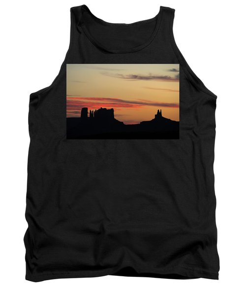 Tank Top featuring the photograph Monument Valley Sunset 1 by Jeff Brunton