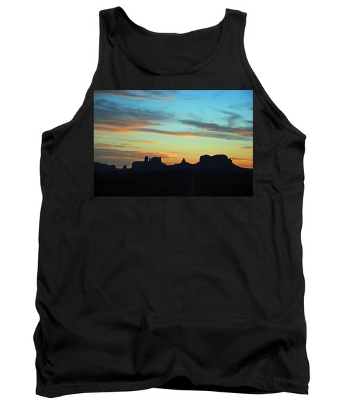 Tank Top featuring the photograph Monument Valley Sunset 4  by Jeff Brunton
