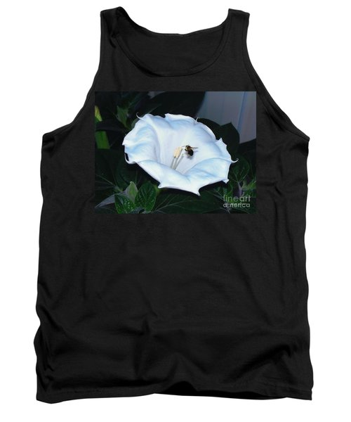Tank Top featuring the photograph Moon Flower by Thomas Woolworth