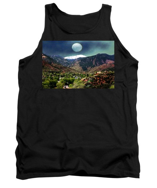 Tank Top featuring the photograph Moon Over Manitou I by Lanita Williams