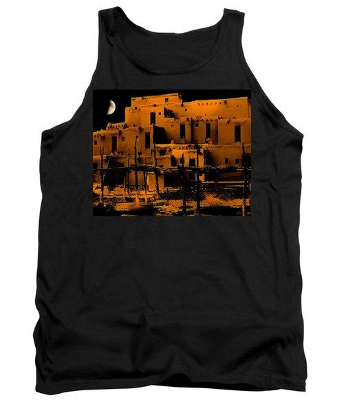 Moon Rise At The Pueblo Tank Top
