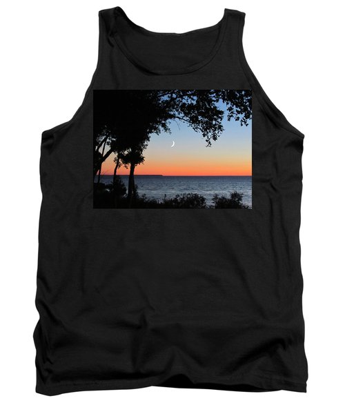 Moon Sliver At Sunset Tank Top