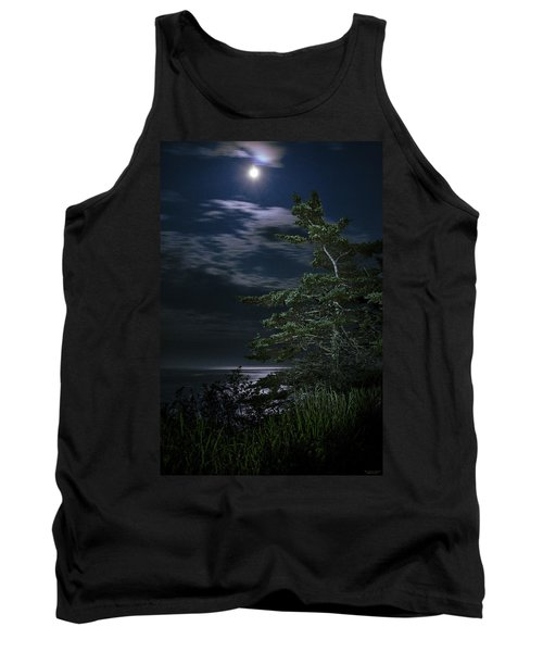 Moonlit Treescape Tank Top by Marty Saccone