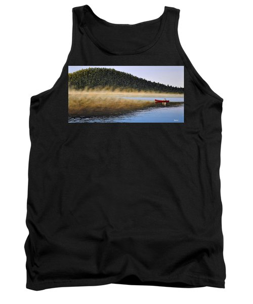Tank Top featuring the painting Moose Lake Paddle by Kenneth M  Kirsch