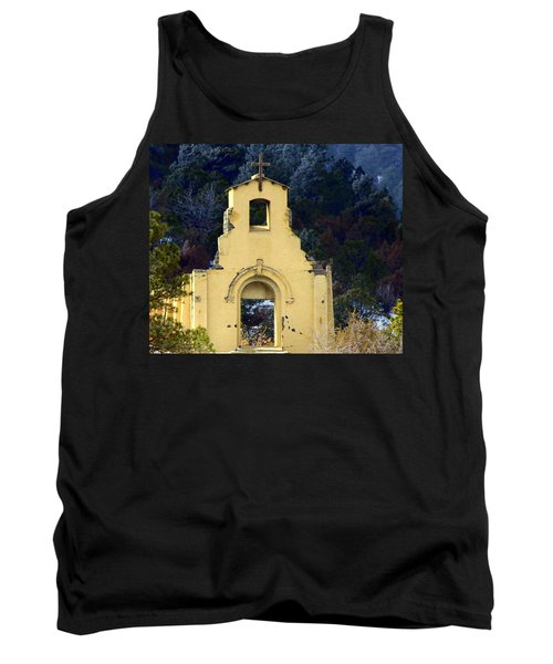 Tank Top featuring the photograph Mountain Mission Church by Barbara Chichester