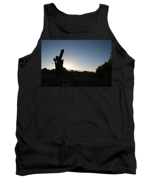 Tank Top featuring the pyrography Morning by David S Reynolds