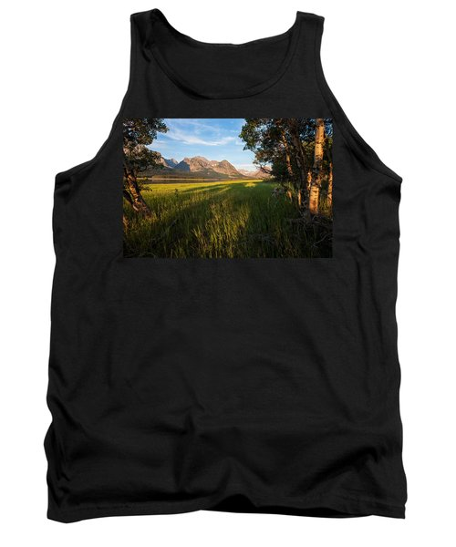 Tank Top featuring the photograph Morning In The Mountains by Jack Bell