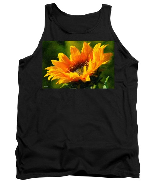 Tank Top featuring the digital art Morning Light by Chuck Mountain
