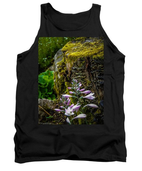 Moss And Flowers In Markree Castle Gardens Tank Top