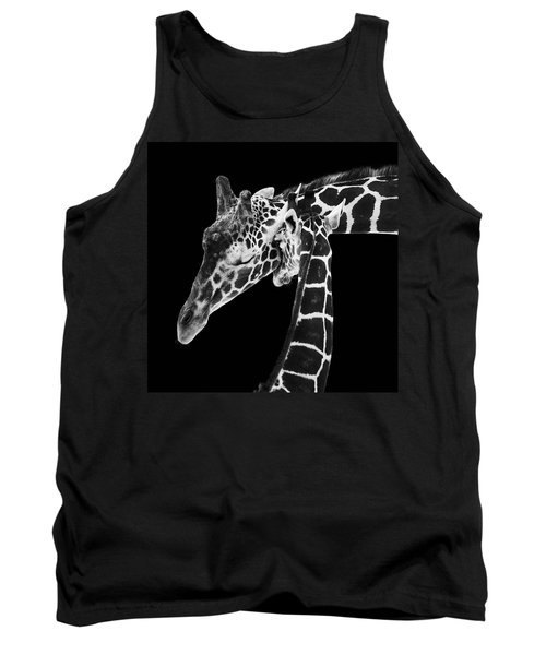 Mother And Baby Giraffe Tank Top