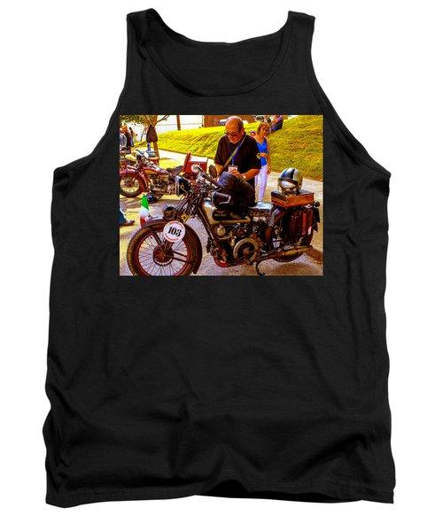 Moto Guzzi At Cannonball Motorcycle Tank Top