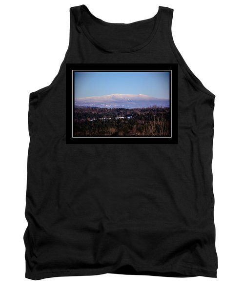 Mount Moosilauke Snowy Blanket Tank Top