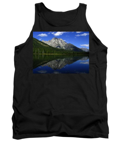 Tank Top featuring the photograph Mount Moran And String Lake by Raymond Salani III