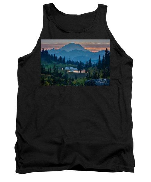 Mount Rainier Layers Tank Top by Mike Reid