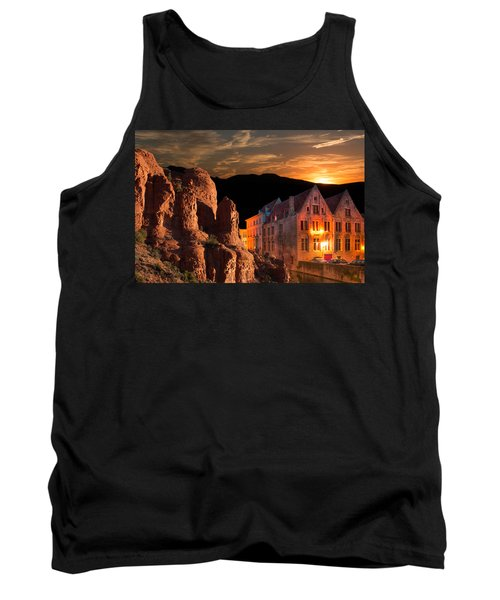 Mountain Sunset Tank Top by Fred Larson